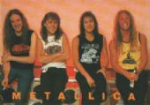 Metallica - 'Group Old Picture' Postcard